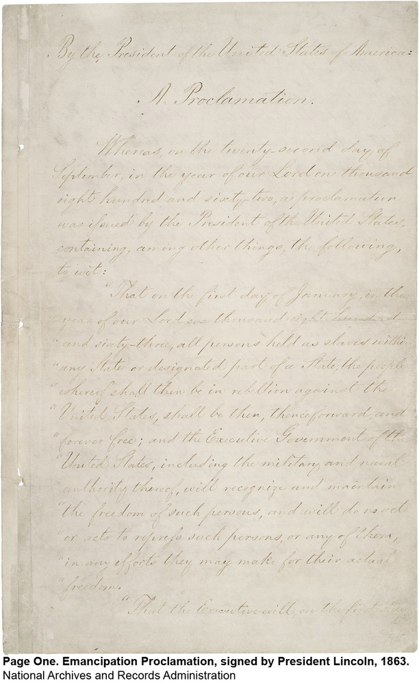 Original Emancipation Proclamation Signed By Lincoln Going