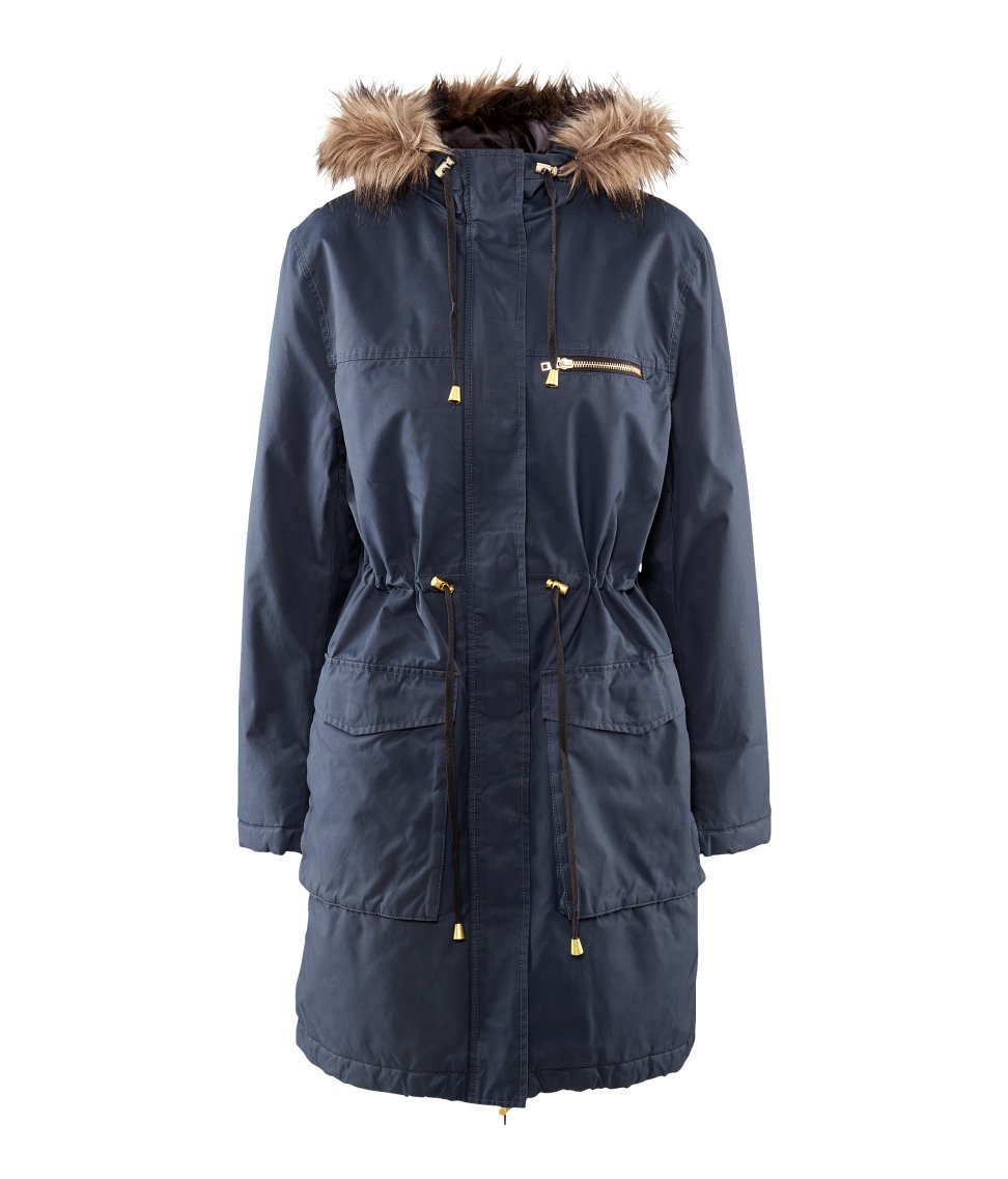 Fashionable: parka coats