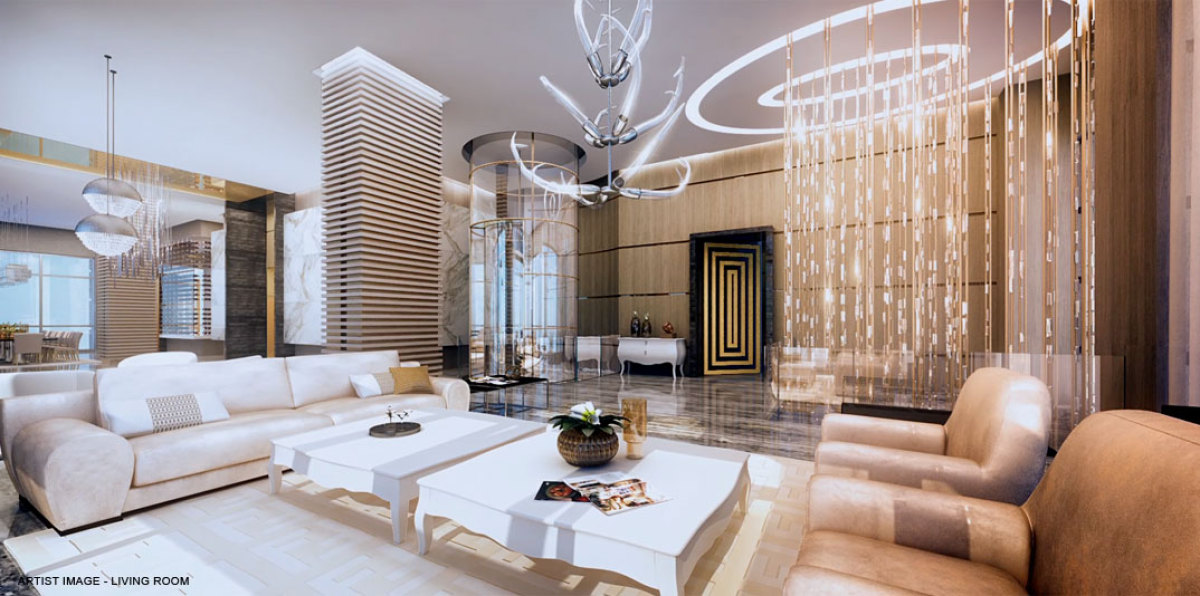 high end living rooms acqualina s palazzo d oro world s finest penthouse on 15976