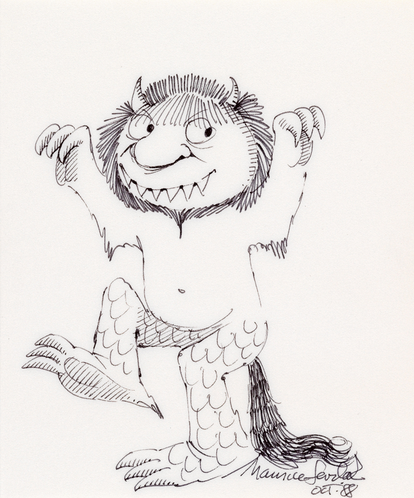 Maurice Sendak Auction Drawings And Rare Edition Of Where The