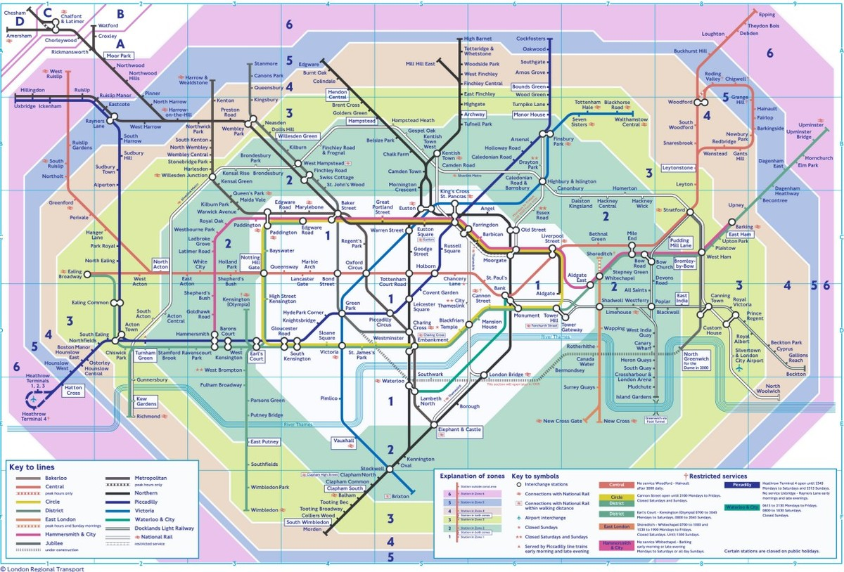 London Underground Geographically Accurate Map Obtained By – Map for London