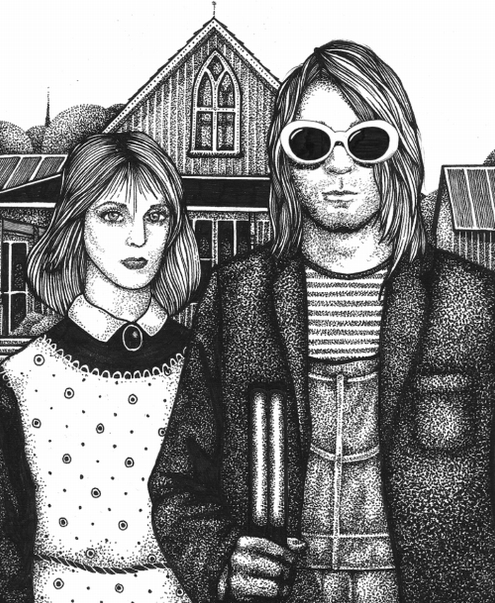 nirvana coloring pages   Kurt Cobain Sticker Book: Artists Celebrate The Nirvana ...