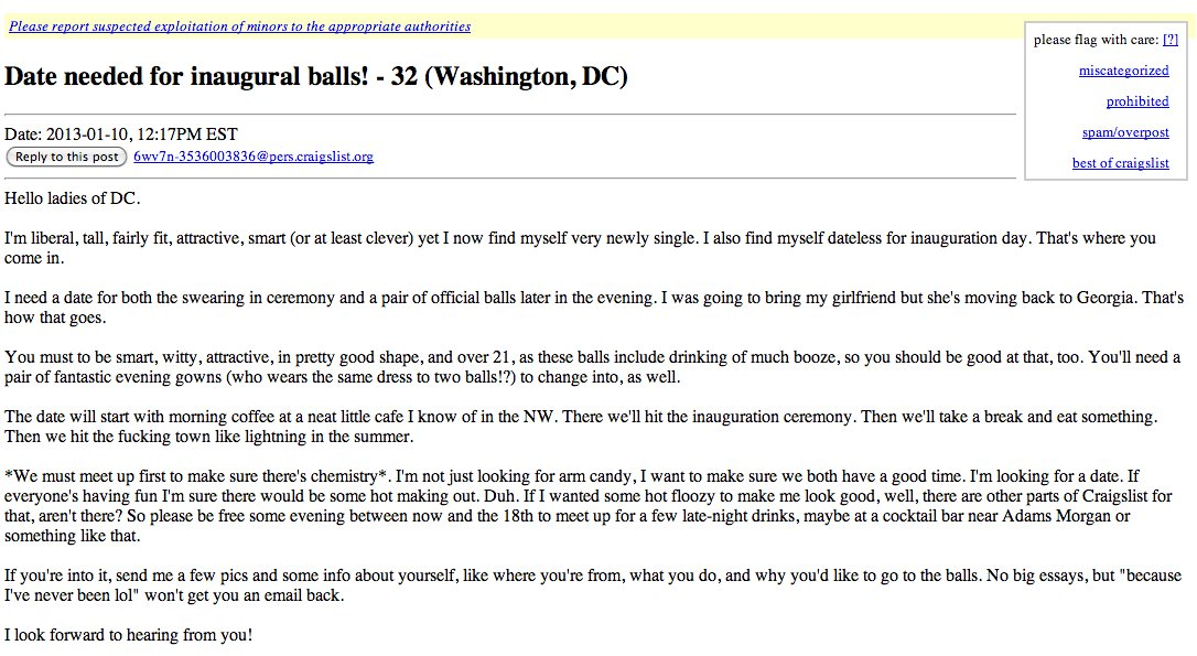Craigslist dc personals men seeking women