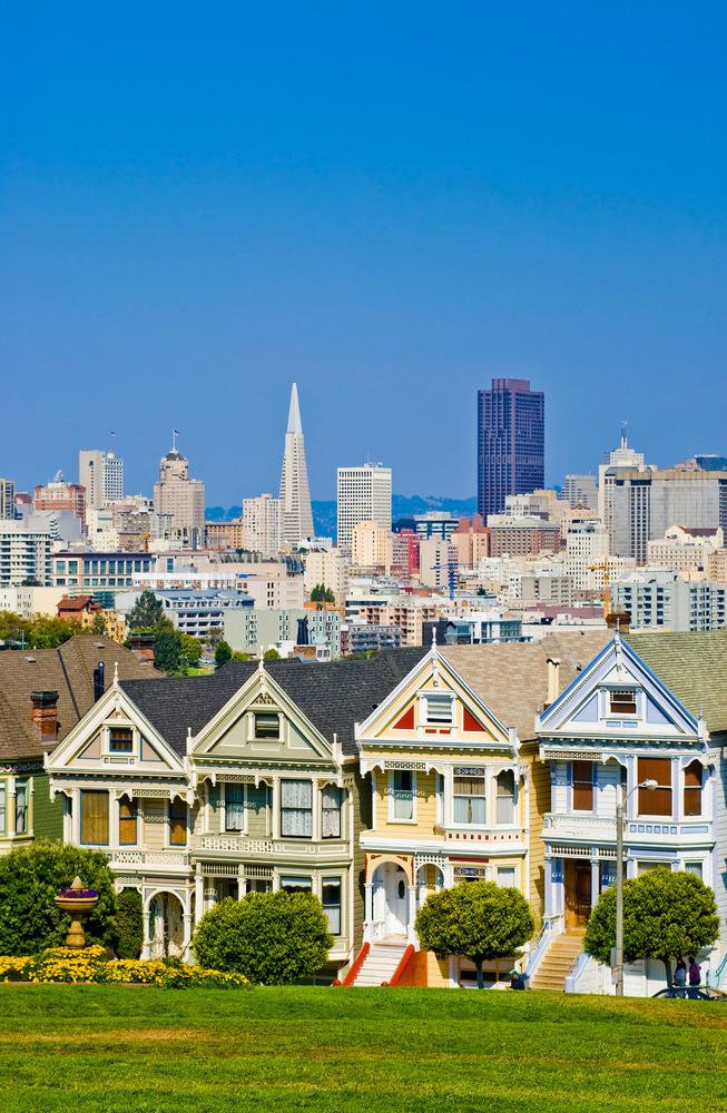 Painted Ladies from Alamo Square - San Francisco