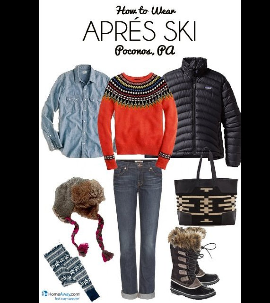 what to wear in the evening after skiing