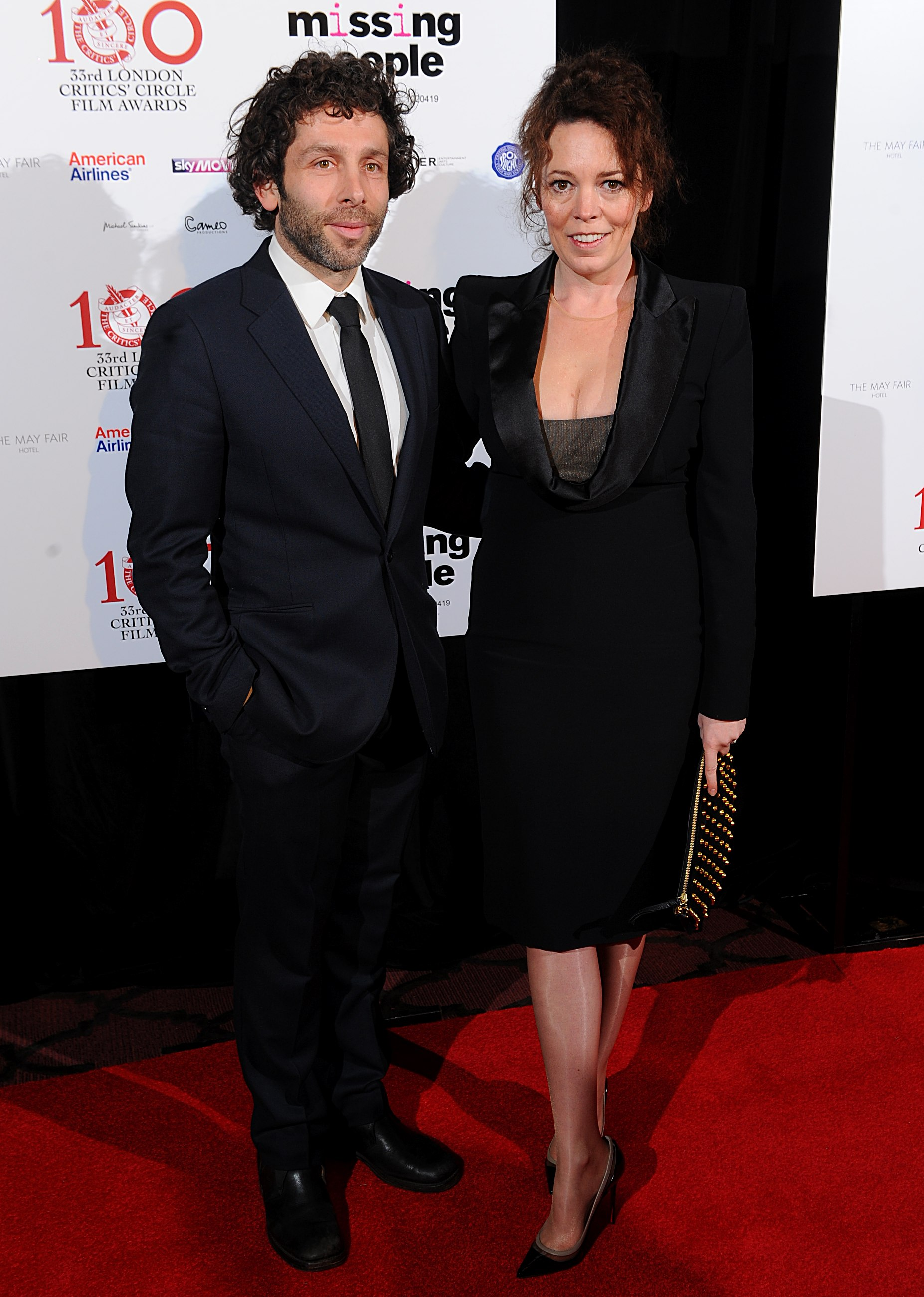 Olivia Colman with cool, Husband Ed Sinclair