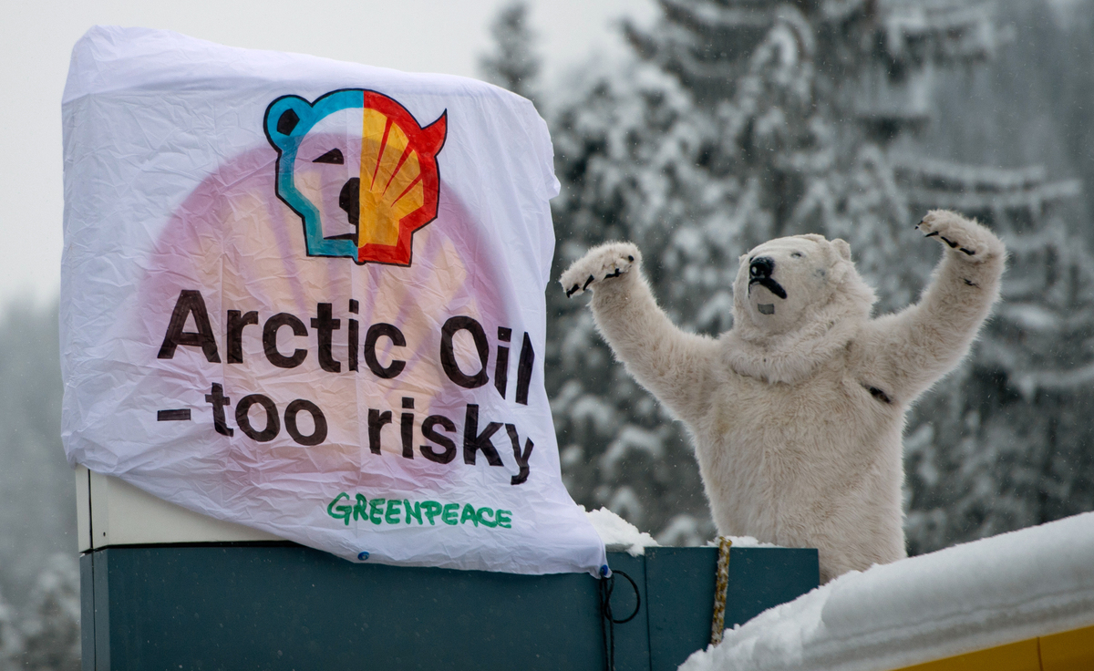 Davos Shell Station Shut Down By Arctic Oil Drilling Protestors thumbnail