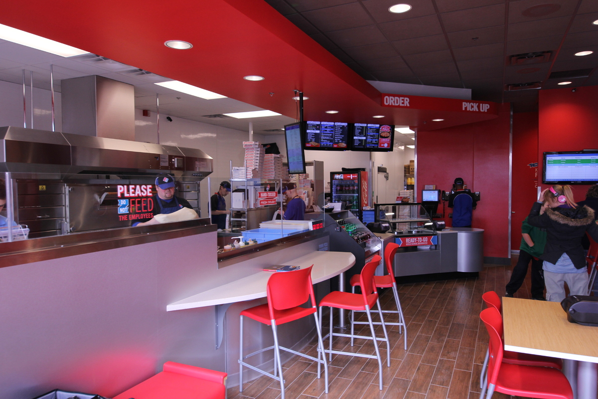 Pizza Kitchen Layout domino's redesign opens kitchens, provides seating to ann arbor