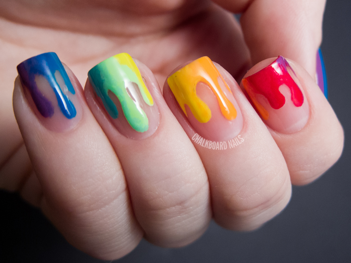 Diy Nail Ideas Rainbow Drip Nail Art And More Of Our