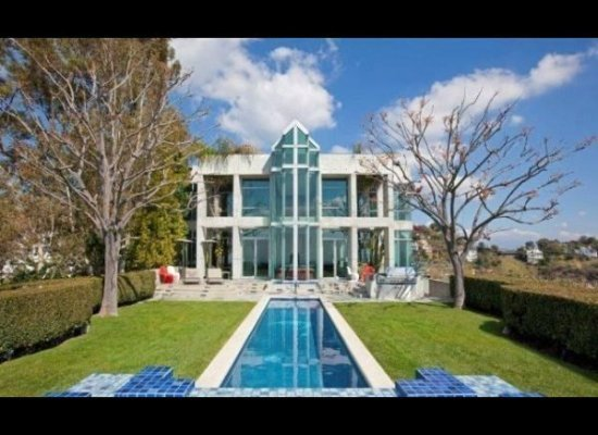 Hollywood hills industrial modern mansion for sale for Modern mansions for sale