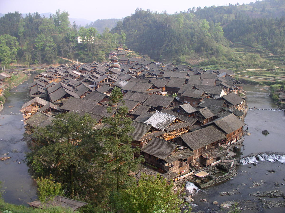 Poor villages in china