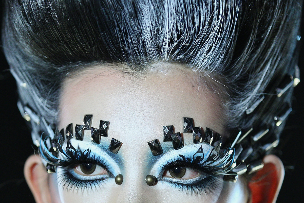 China Fashion Week Fall 2013 Showcases Crazy Eye Makeup