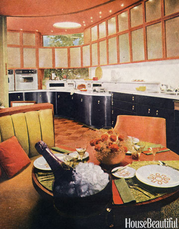 1960s interiors inspired by 39 mad men 39 from house for Kitchen design 70s