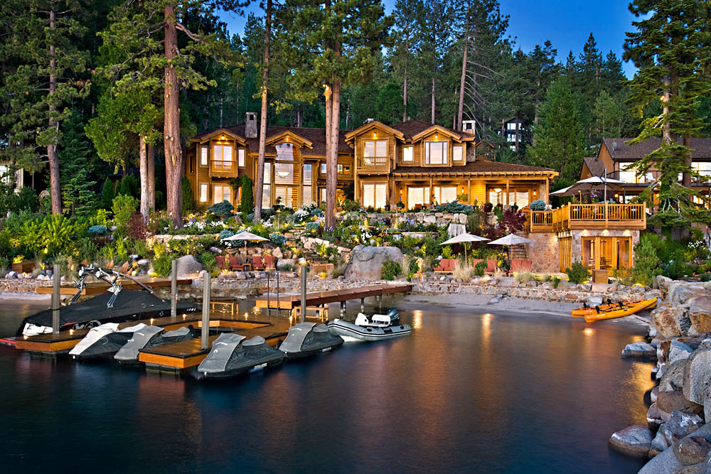 Larry ellison tahoe house oracle billionaire 39 s beautiful for Luxury lake tahoe homes for sale