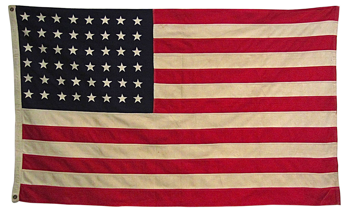 American flags and other vintage patriotic decor are hot for American flag decoration
