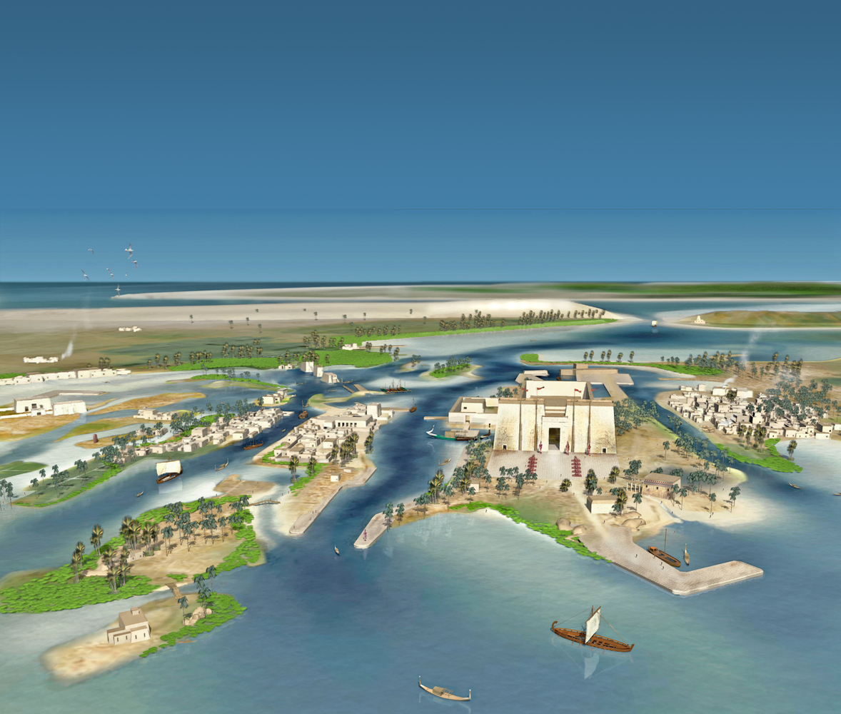 computer model of the ancient city of Heracleion