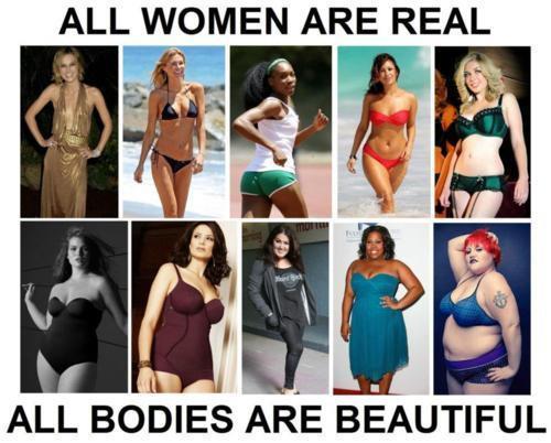 Tante donne di tutte le forme ma ugualmente belle