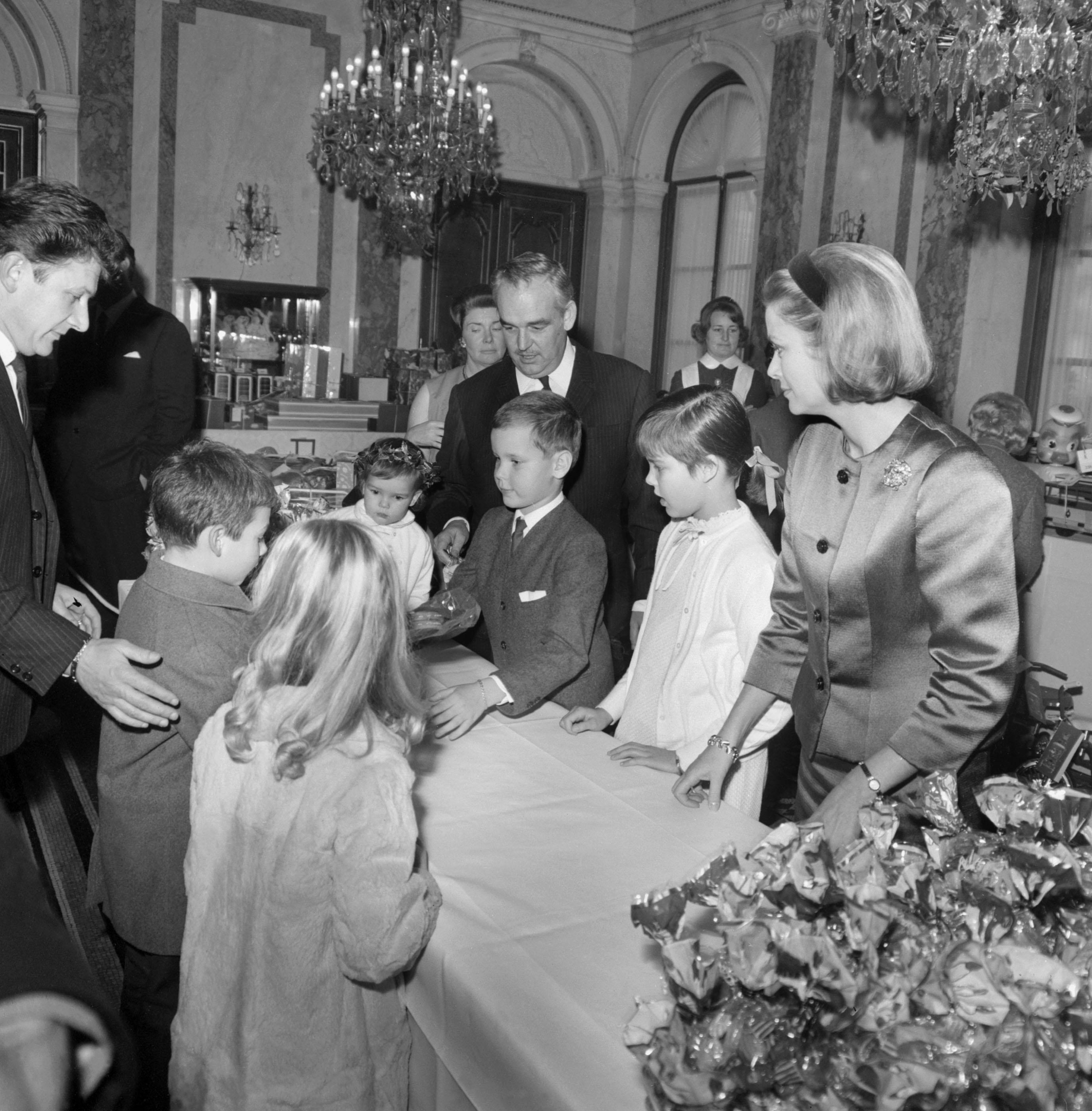 Monte Carlo Christmas Party: Princess Stephanie Prince Rainier Iii Prince Albert