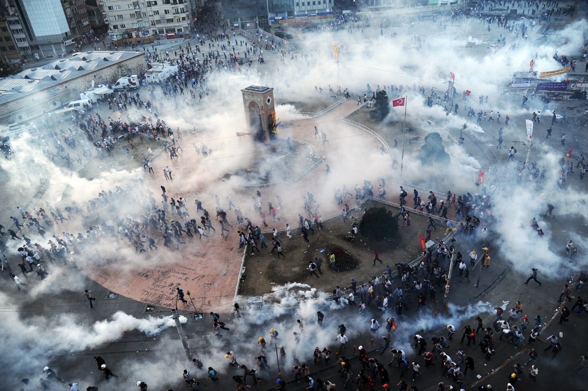 Turkey Protests turn Violent In Taksim Square