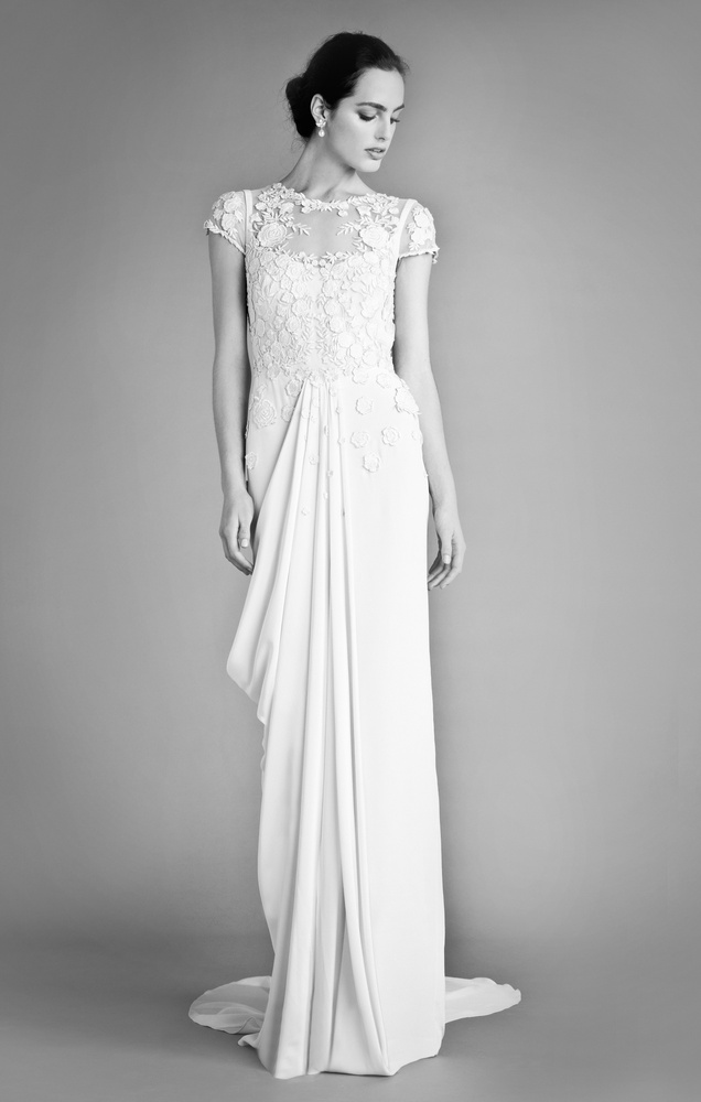 City Chic Wedding Dresses : This column dress feel very now embroidered wedding gowns we love from