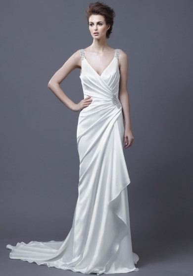 Grecian wedding dresses for a goddess inspired look for Goddess inspired wedding dresses