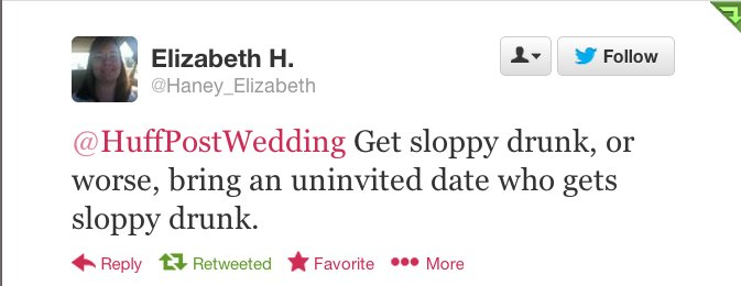 The Worst Thing A Wedding Guest Can Do