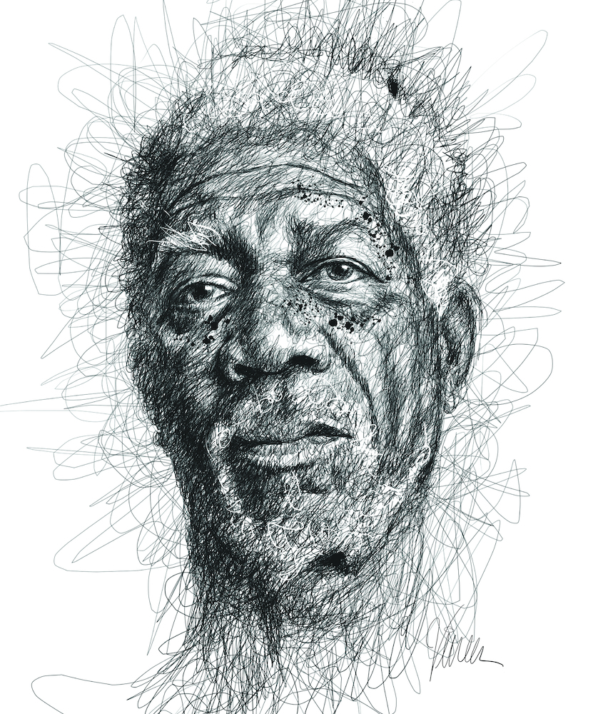 Uses Of Line In Art : Vince low pays homage to famous dyslexics with realistic