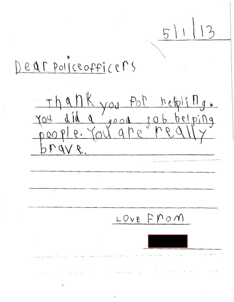 How To Thank A Police Officer In A Letter