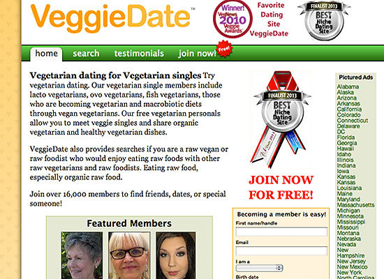 100 dating free site vegetarian