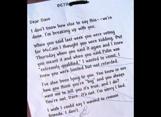 love letter after break up