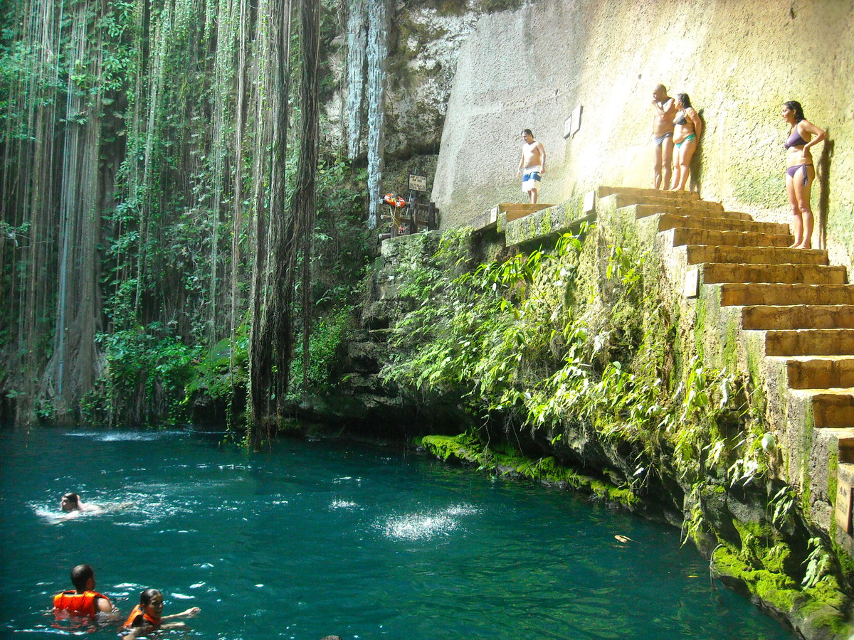 The stunningly beautiful natural pool of lotofaga wow Chichen itza mexico natural swimming pool