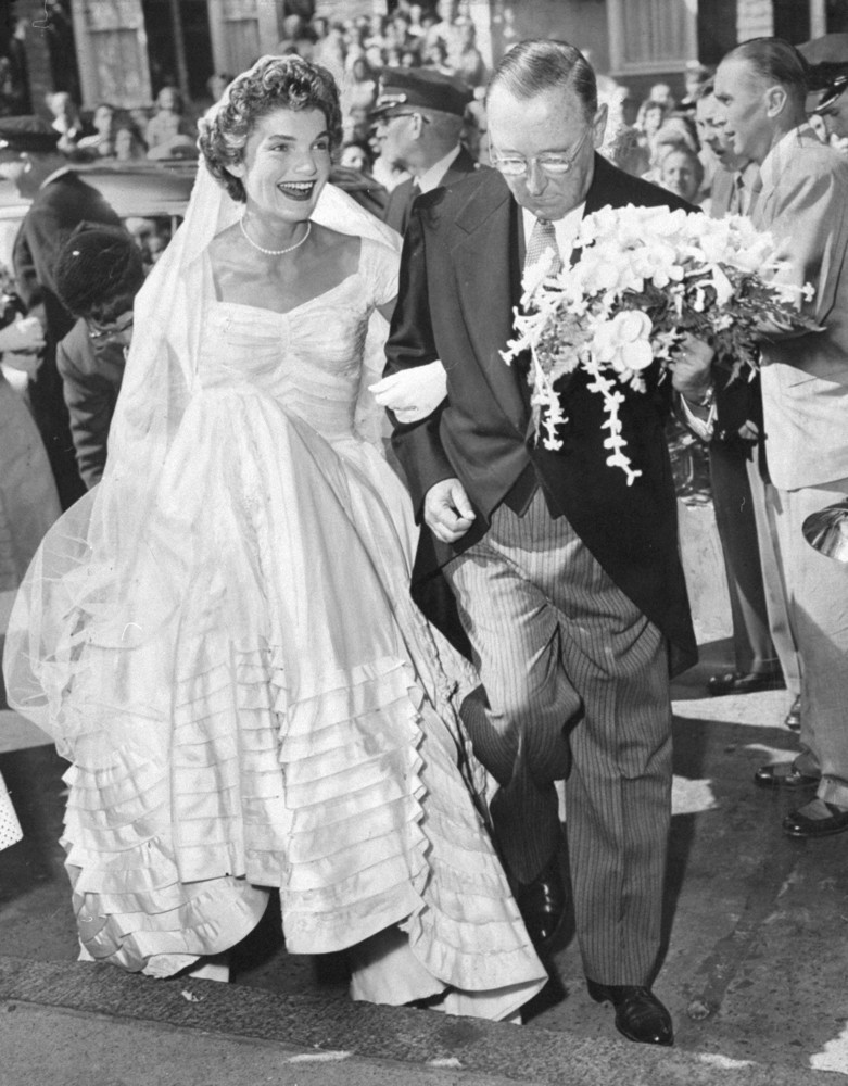 Peachy Jackie Kennedys Wedding Dresses Still Make Us Swoon Both Of Them Hairstyles For Women Draintrainus