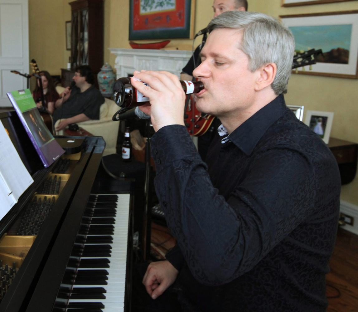 Stephen Harper Doesn't Drink Alcohol, Except When He Does