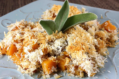 Butternut Squash Lasagne With Goat Cheese, Sage, And Breadcrumbs ...