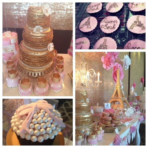 Paris Baby Shower Cake: HOW MANY Custom Cakes Does It Take To Welcome A Heat Baby
