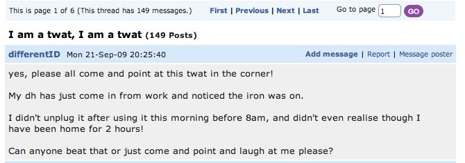 After Penis Beaker, 14 Other Hilarious Mumsnet Forum ...