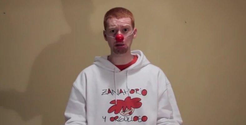 disfraz de payaso triste nariz de payaso y cara triste