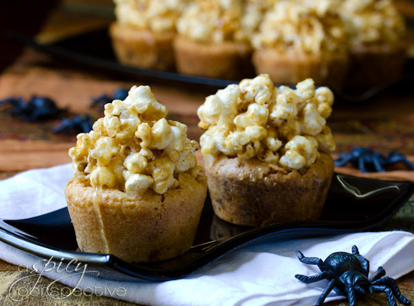 Get the Caramel Corn Blondies recipe from A Spicy Perspective