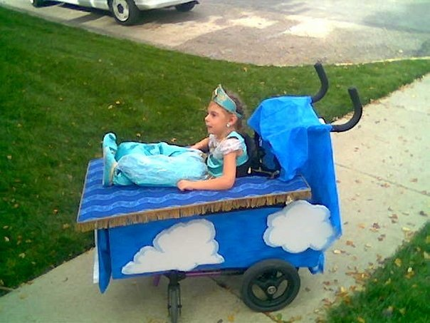 Family builds amazing halloween costumes around 12 year for Homemade halloween costumes for 10 year olds