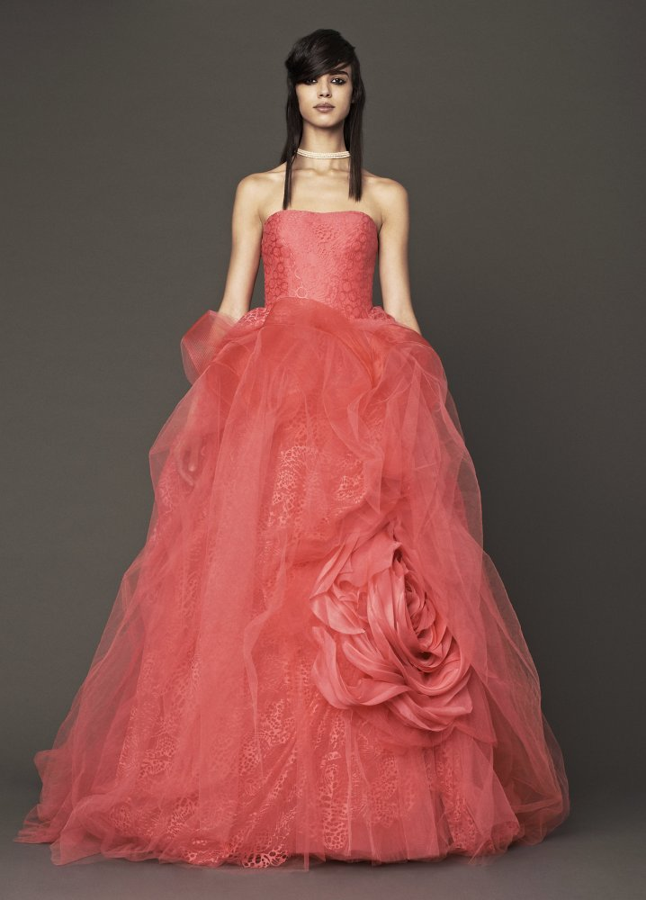 50 shades of pink wedding dresses huffpost for Pink wedding dresses pictures