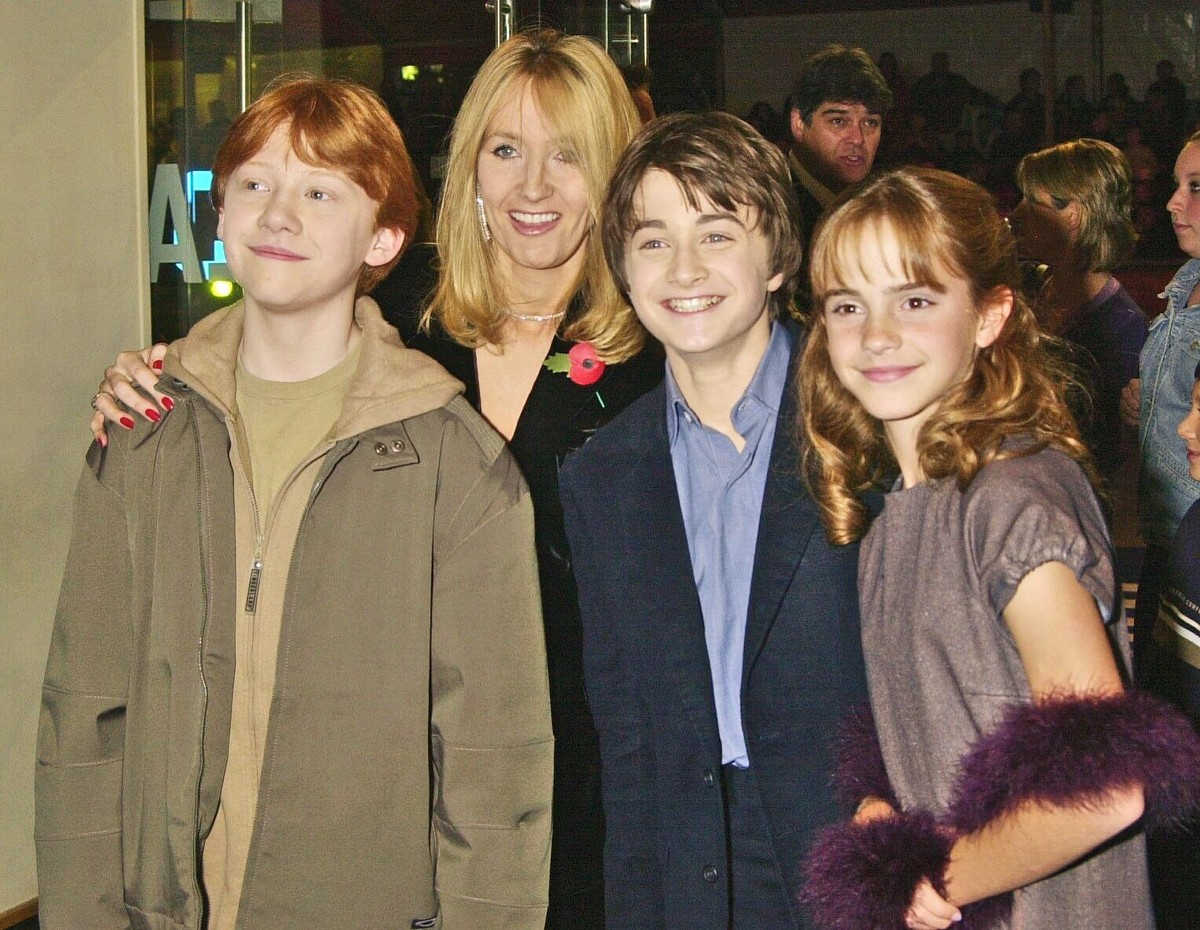 harry potter s back jk rowling pens new story featuring character harry potter cast s red carpet style evolution