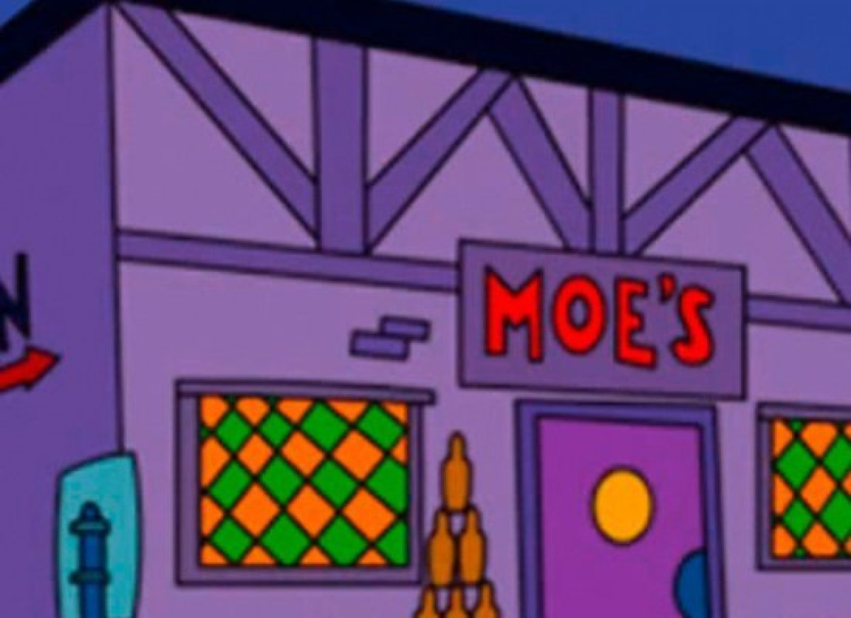 simpsons gay bar