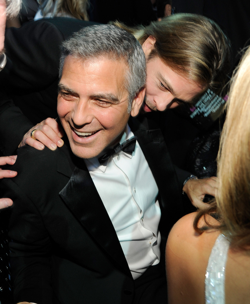 George clooney just can t stop talking about brad pitt the