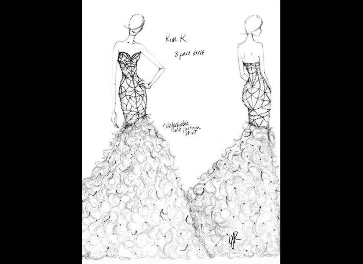 Barbie A Fashion Fairytale Dresses Sketches Yumi Katsura sketched a