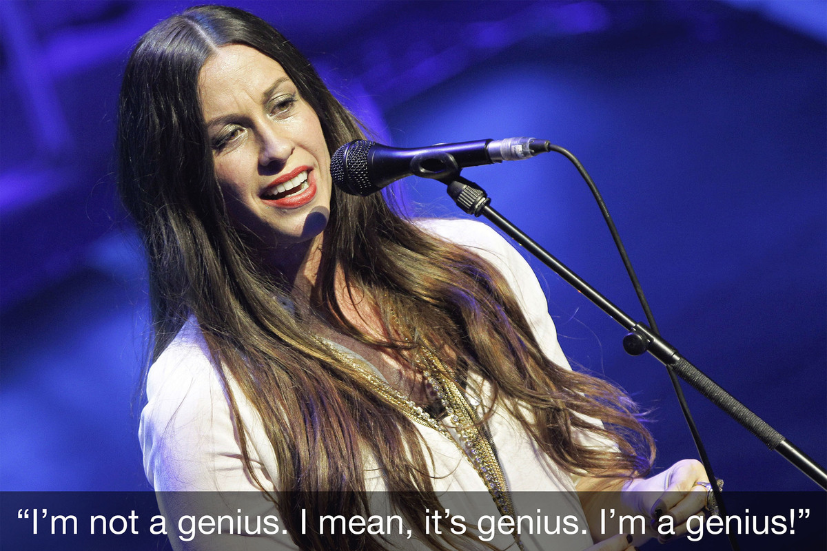 alanis morissette s song ironic is nowhere Alanis morisette's best songs contain memorable and to the surprise of alanis morissette's label, the song became a major alanis morissette - ironic.