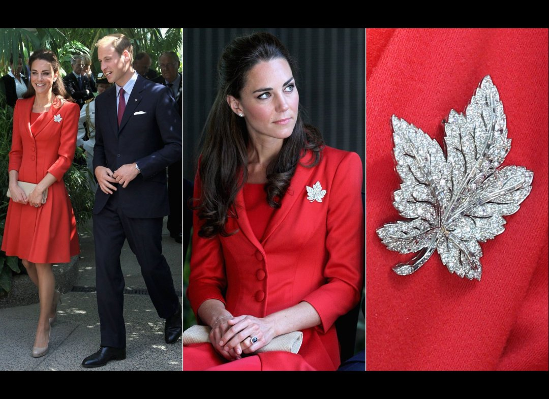 Queen Elizabeth Maple Leaf Dress