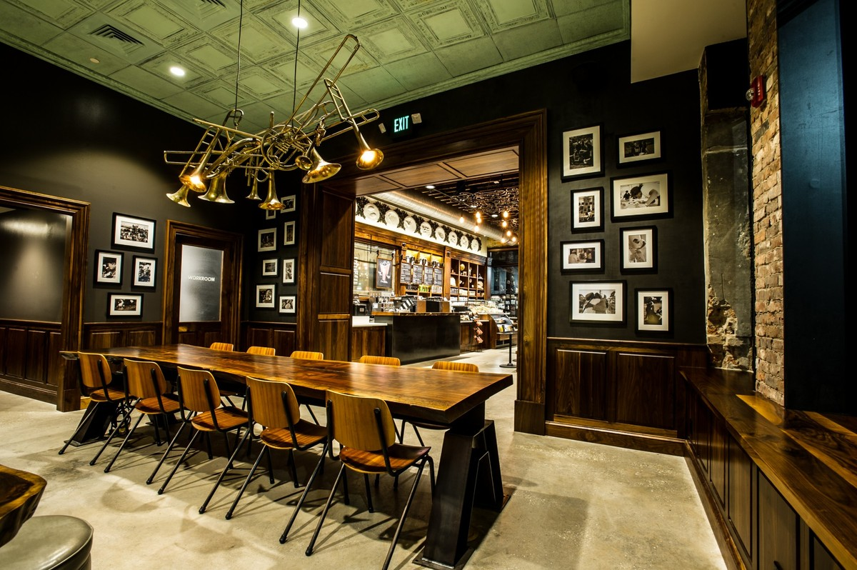 5 decor ideas we want to steal from starbucks for real photos huffpost Tables for coffee shop