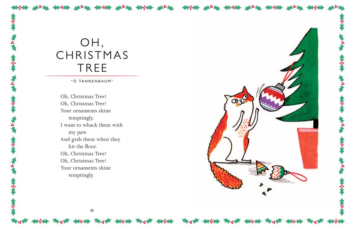 Christmas tree lyrics for kids adorable cats singing christmas