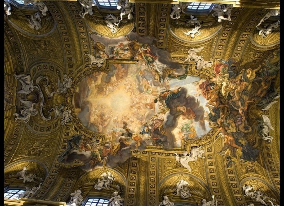 5 Roman Ceilings Better Than The Sistine Chapel Huffpost