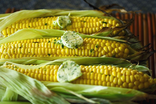 Get the Grilled Corn with Lime Cilantro Wasabi Butter recipe from ...